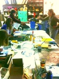 Monotypie-Workshop 2015