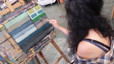 Farbkompostionen mit Malte