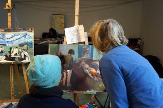 Die meisten Teilnehmer brachten malerische Darstellungen von Menschen mit.