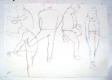 Schnelle Skizzen, Bewegungsstudie