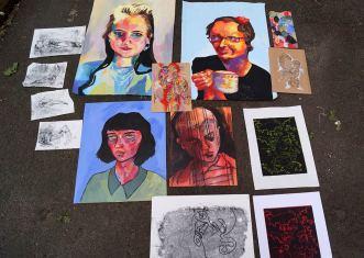 Porträts mit Acrylfarbe, Drucke