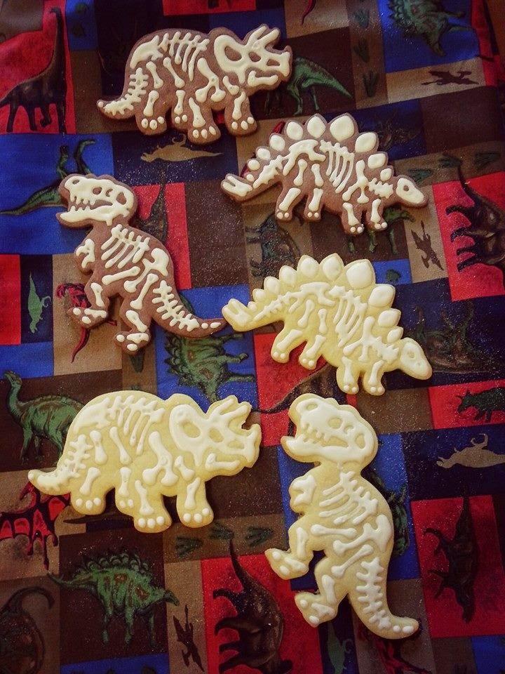 Butterplätzchen Kekse Mürbteig Dinosaurier