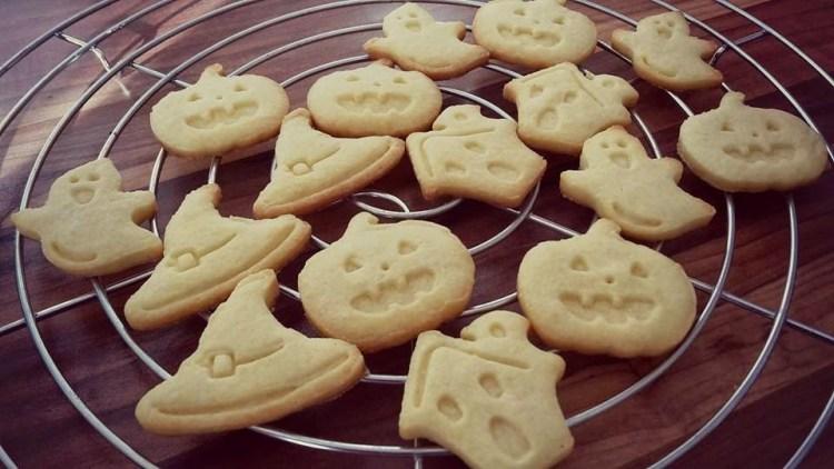 Butterplätzchen Kekse Mürbteig Halloween