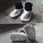 Babyschühchenmit Bündchen selber nähen