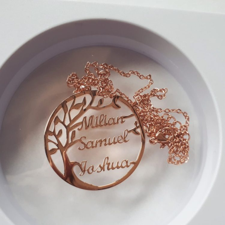 Muttertag Halskette Namen Kinder Geschenk