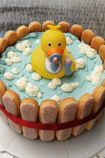 Baby Party Shower Ente Torte
