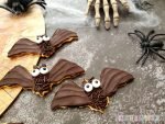Schokoladige Fledermauskekse zu Halloween
