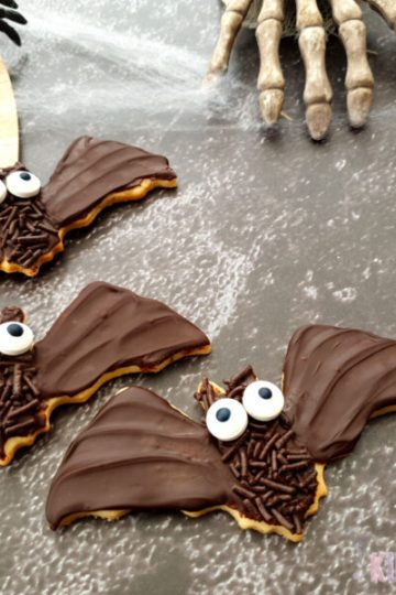Halloween Fledermäuse Kekse Mürbteig Schokolade