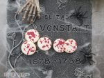 Blutige Splatter-Cookies zu Halloween