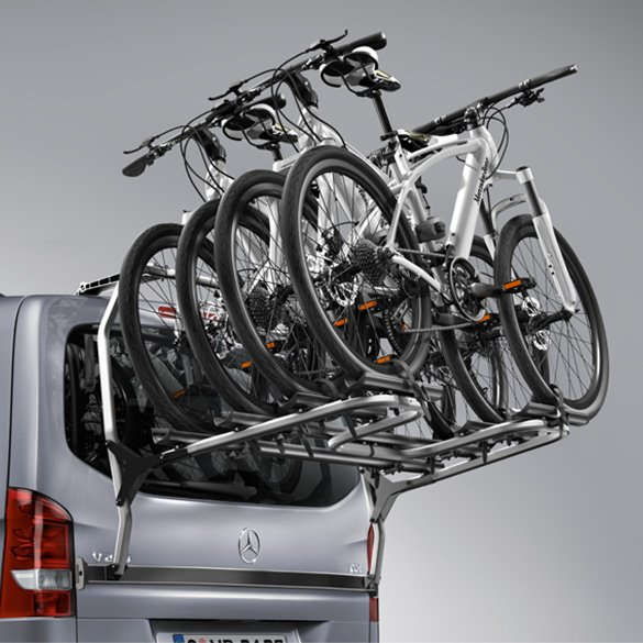 rear bicycle rack tailgate v class br447 genuine mercedes benz