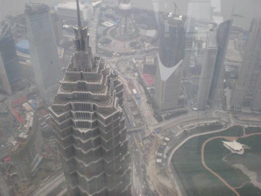 上海黄浦江のほとり