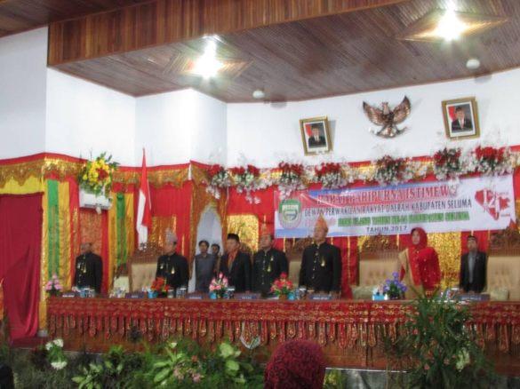 Acara Paripurna DPRD Seluma dalam rangka HUT Kabupaten Seluma
