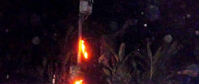 Gardu PLN terbakar