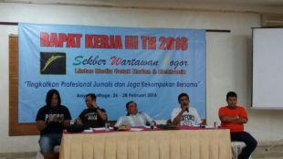 Rapat Kerja Sekber Wartawan Harian Bogor yang diadakan 26-28 Februari 2016 (dok. KM)