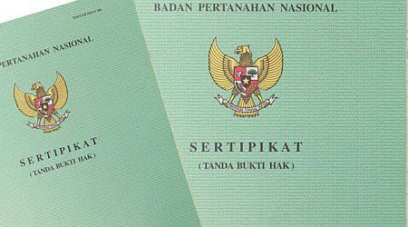 Ilustrasi Seripikat Hak Milik tanah (stock)