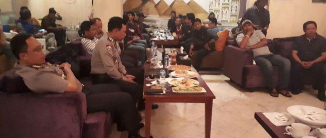 Suasana Halal Bihalal Polresta Bogor KOta dengan wartawan di Restoran Sultana, Kota Bogor 11/7 (dok. KM)
