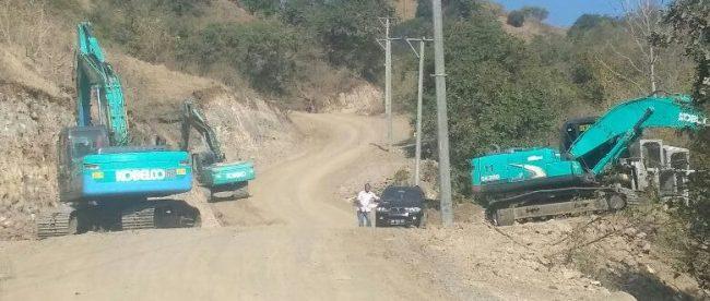 Pekerjaan proyek Jalan Provinsi NTB di Kabupaten Bima, NTB (dok. KM)