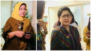 Dirjen Kesmas Kirana Prita Sari (kiri) dan Menteri Kesehatan Nila Moeloek (dok. KM)
