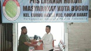 Pembukaan pos layanan hukum bagi korban dugaan penipuan menjadi karyawan Transmart Yasmin, Kota Bogor (dok. KM)