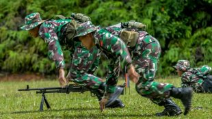 Kontingen Indonesia di lomba Tembak Asean Armies Rifle Meet ke 28 di Lapangan 400 Teredak Camp, Malaka, Malaysia (dok. Dispenad)