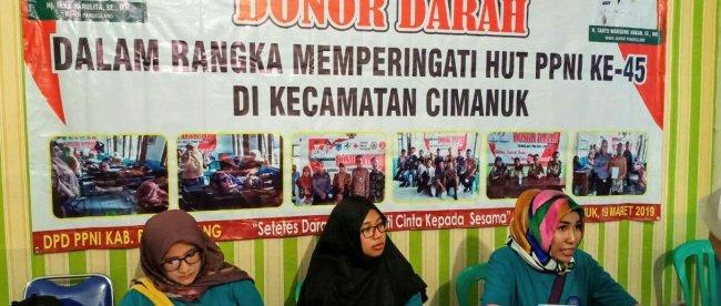 Kegiatan Kampanye Anti Narkoba melibatkan para pejabat, staf dan tim kesehatan dari BNNP Banten dilaksanakan di Kecamatan Cimanuk, Kabupaten Pandeglang, Banten, Selasa 19/3/2019.
