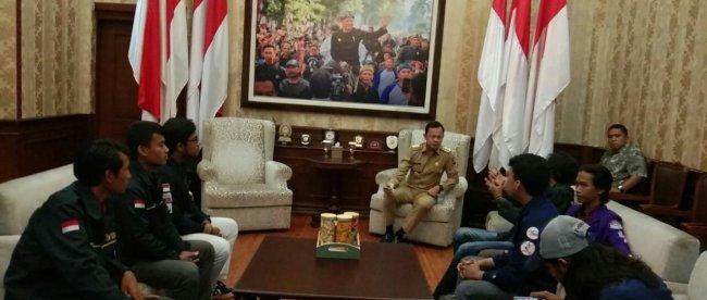 Walikota Bogor Bima Arya Sugiarto Bersama BEM se Bogor (dok.KMWalikota Bogor Bima Arya Sugiarto Bersama BEM se Bogor (dok.KM)