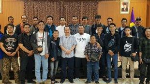 Rektor Universitas Pakuan Bogor bersama awak media (dok. KM)