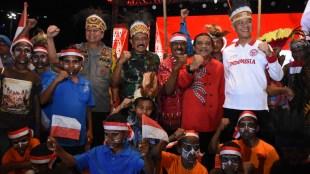 Ketiga petinggi Jawa Tengah hadir dalam Pagelaran Seni Budaya Merajut Kebhinnekaan 2019 di Lapangan Pancasila Simpanglima Semarang, Sabtu 7/9/2019