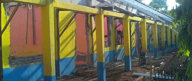 Proyek rehabilitasi SDN Wanakarya, Kecamatan Cipunagara, Kabupaten Subang (dok. KM)