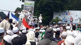 Aksi Bela Nabi FMBR di Tugu Kujang, Kota Bogor, Jumat 13/12/2019 (dok. KM)