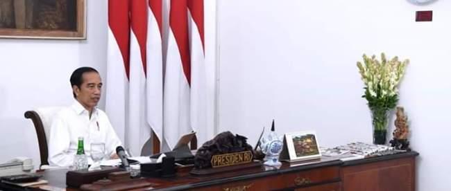 Presiden Joko Widodo di Istana Merdeka, Senin 27/7/2020 (dok. Setpres)