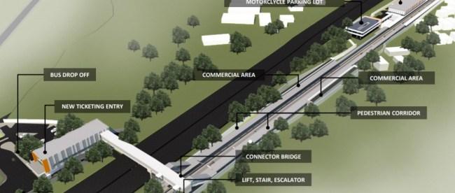 Rencana pengembangan Stasiun Pondok Ranji (dok. Kemenhub)