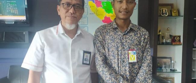 Ketua Umum Dewan Pimpinan PCA Sulthan Alfaraby, usai berdiskusi terkait listrik di Aceh bersama GM PLN UIW Aceh Jefri Rosiadi (dok. KM)