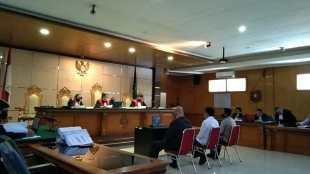 Sidang Kasus Sekdis DPKPP Kabupaten Bogor di Pengadilan Tipikor Bandung, Jumat 18/9/2020 (dok. KM)