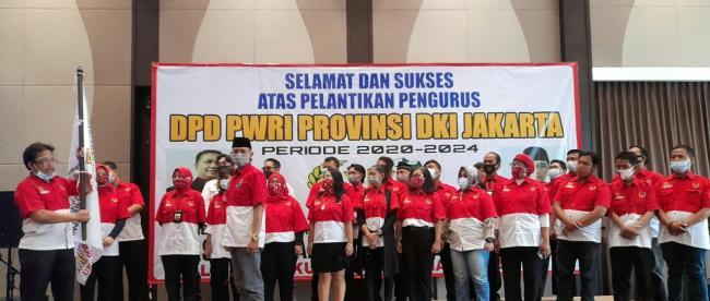 Prosesi Pelantikan Ketua dan Pengurus Baru DPD PWRI DKI Jakarta, Rabu 21/10/2020 (dok. KM)