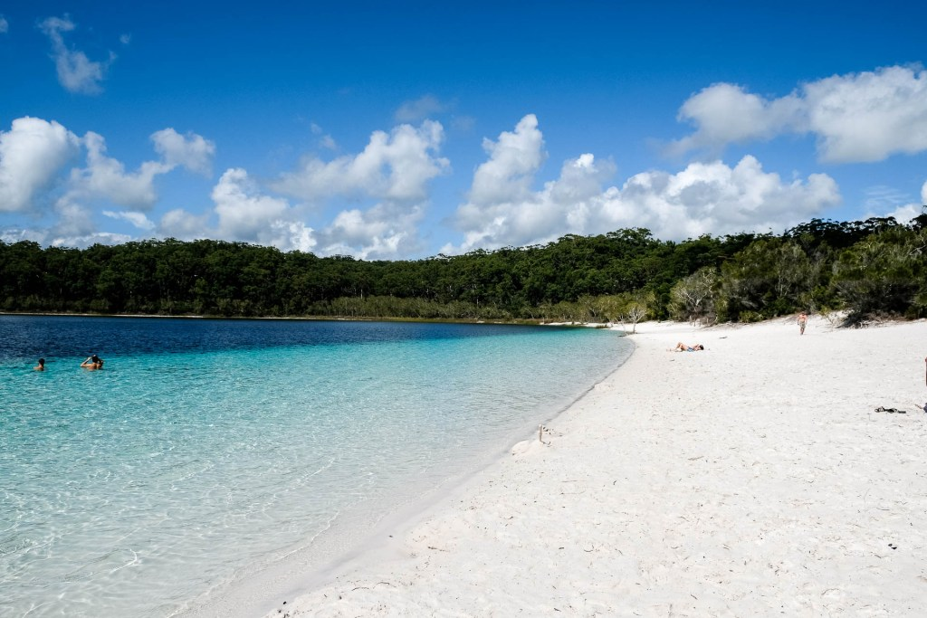 Weisser Strand Am Lake Mckenzie