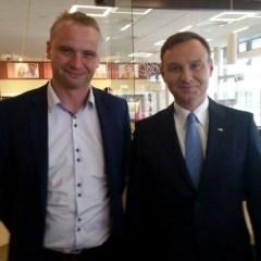 Prezydent Elekt cieszy się ogromną sympatią mieszkańców Dąbrówki…