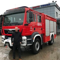 Nowoczesny strażacki MAN trafił właśnie na wyposażenie OSP Kuligów!