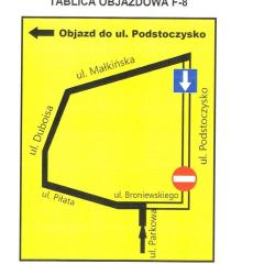 Nowa organizacja ruchu na ulicy Podstoczysko