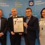 """Gmina Radzymin najaktywniejsza w pozyskiwaniu funduszy europejskich w plebiscycie """"Lider Zmian – Samorząd 2017"""""""