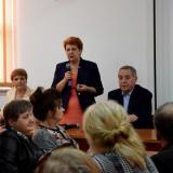 Minister środowiska Henryk Kowalczyk i posłanka na Sejm RP Teresa Wargocka na spotkaniu w Rząśniku