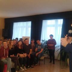 Maciej Orłoś na spotkaniu z baczyńszczakami