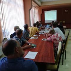 Spotkanie dotyczące budowy gazociągu na terenie gminy Andrzejewo