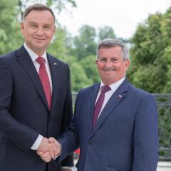 Dzień Samorządu Terytorialnego u Prezydenta Andrzeja Dudy w Belwederze