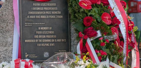 Piotr Leszczyński i Antoni Prusiński upamiętnieni za pomoc Żydom