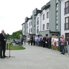 Oficjalne oddanie do użytku nowych bloków osiedla TBS przy ulicy Łącznej