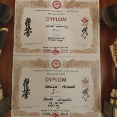 Dwa złote medale ząbkowskich karateków