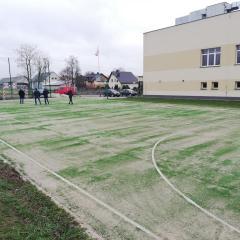 Zakończenie modernizacji boiska sportowego w Andrzejewie
