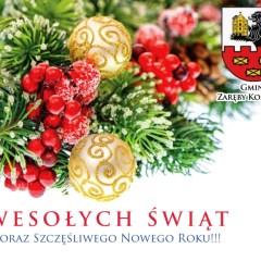 Wesołych Świąt życzy Gmina Zaręby Kościelne