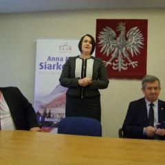 Anna Maria Siarkowska z wizytą w Wyszkowie